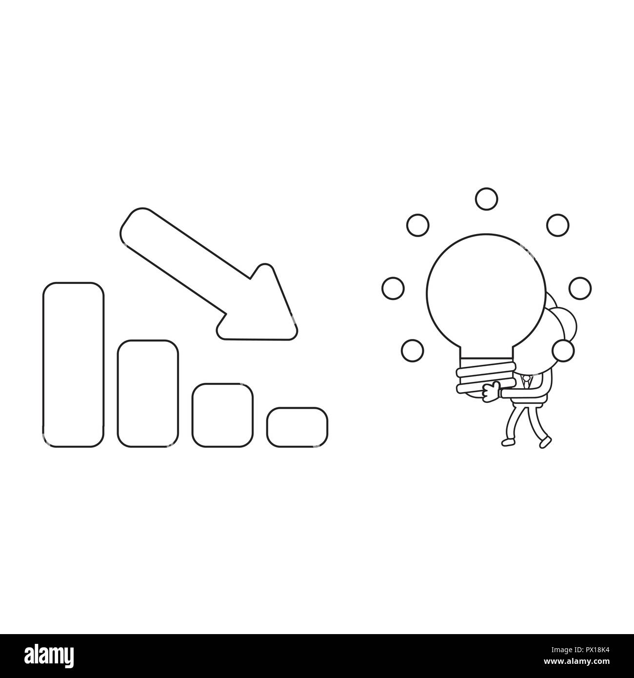 Bar Graph Black And White Stock Photos Images Alamy So Now The Schematic Of Led Circuit Will Look Like Vector Illustration Concept Businessman Character Carrying Glowing Light Bulb Idea To Sales Moving
