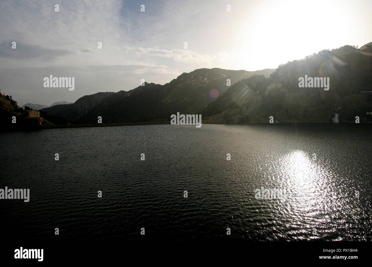 Estany major de Colomers. Aiguestortes National Park. Pyrenees, Spain - Stock Image