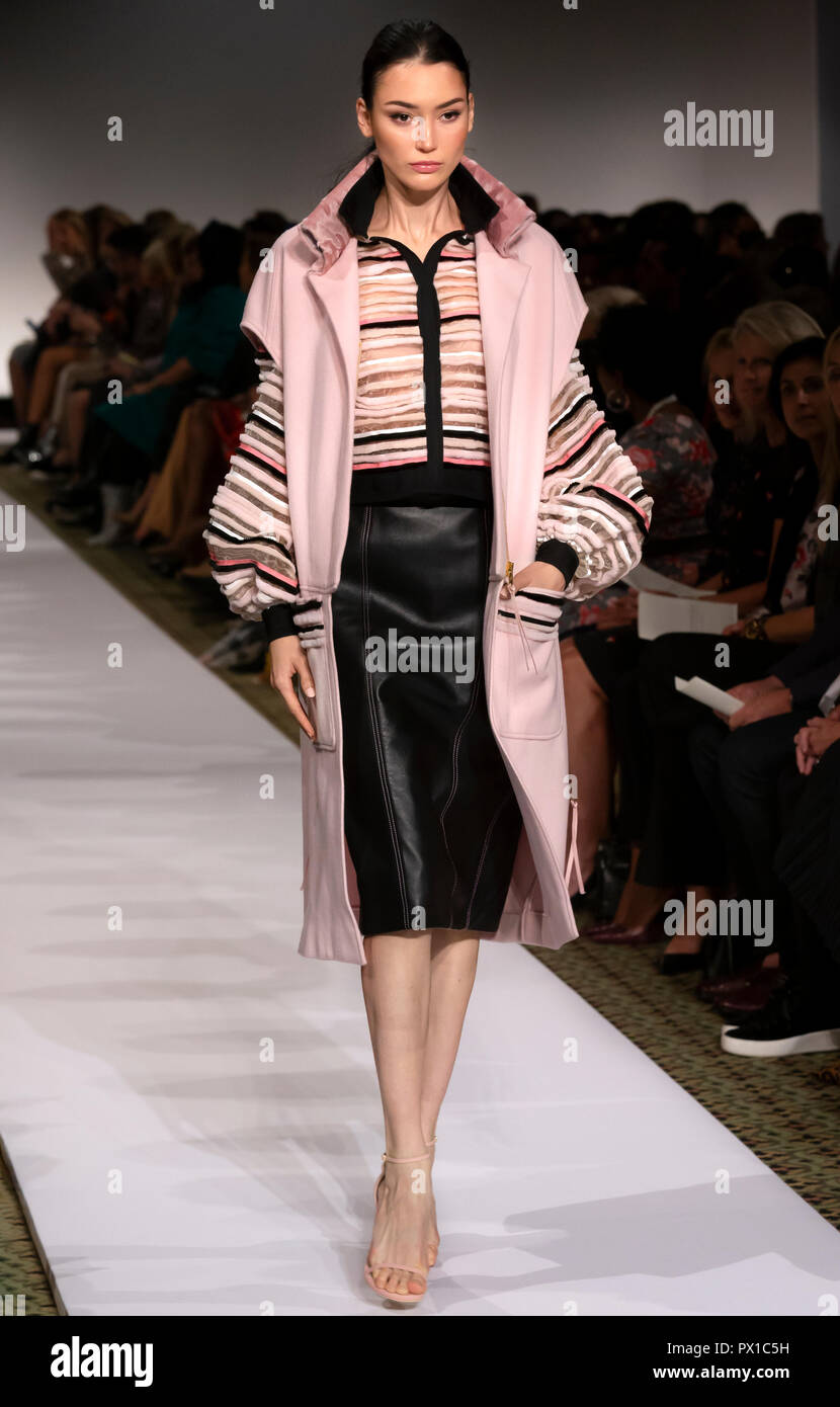 NEW YORK, NY - September 10, 2018: Muriel Beal walks the runway at the Dennis Basso Spring Summer 2019 fashion show during New York Fashion Week - Stock Image