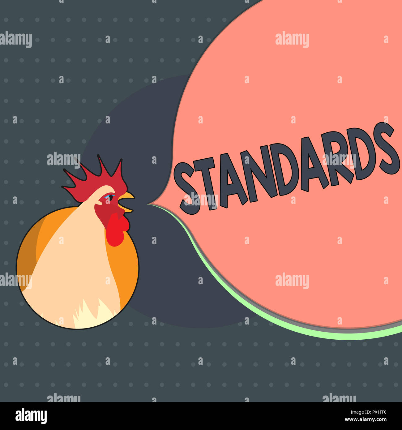 Text sign showing Standards. Conceptual photo Level of quality Guideline Measure Example Model to follow. - Stock Image