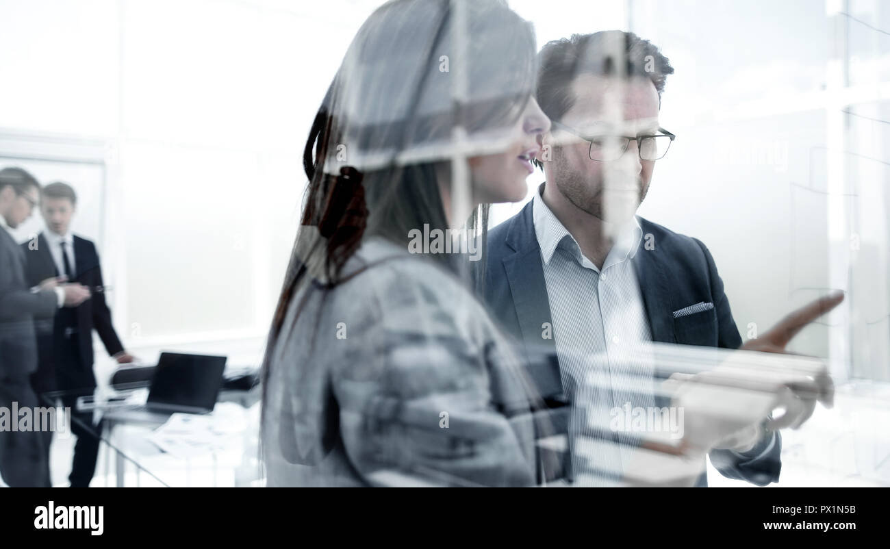 business partners discussing new opportunities. - Stock Image