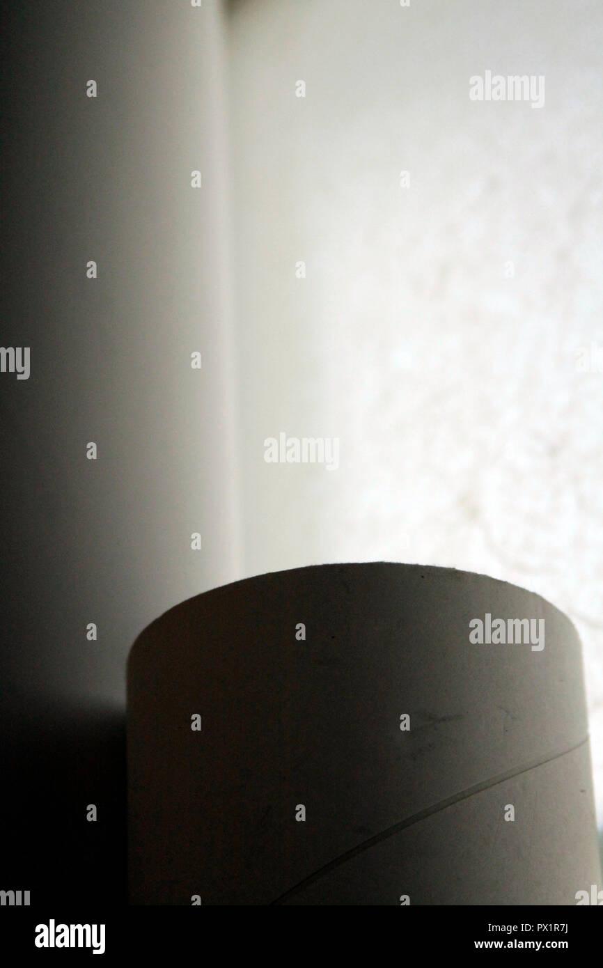 Soft light over a cylinder - Stock Image