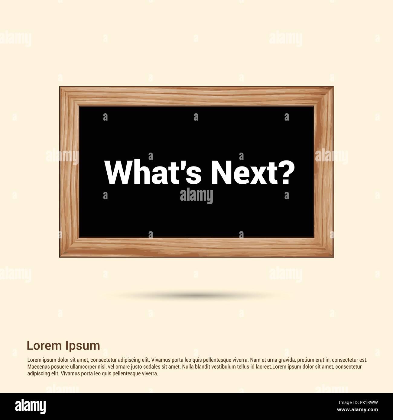 What's next typographic design with elegent design vector - Stock Vector