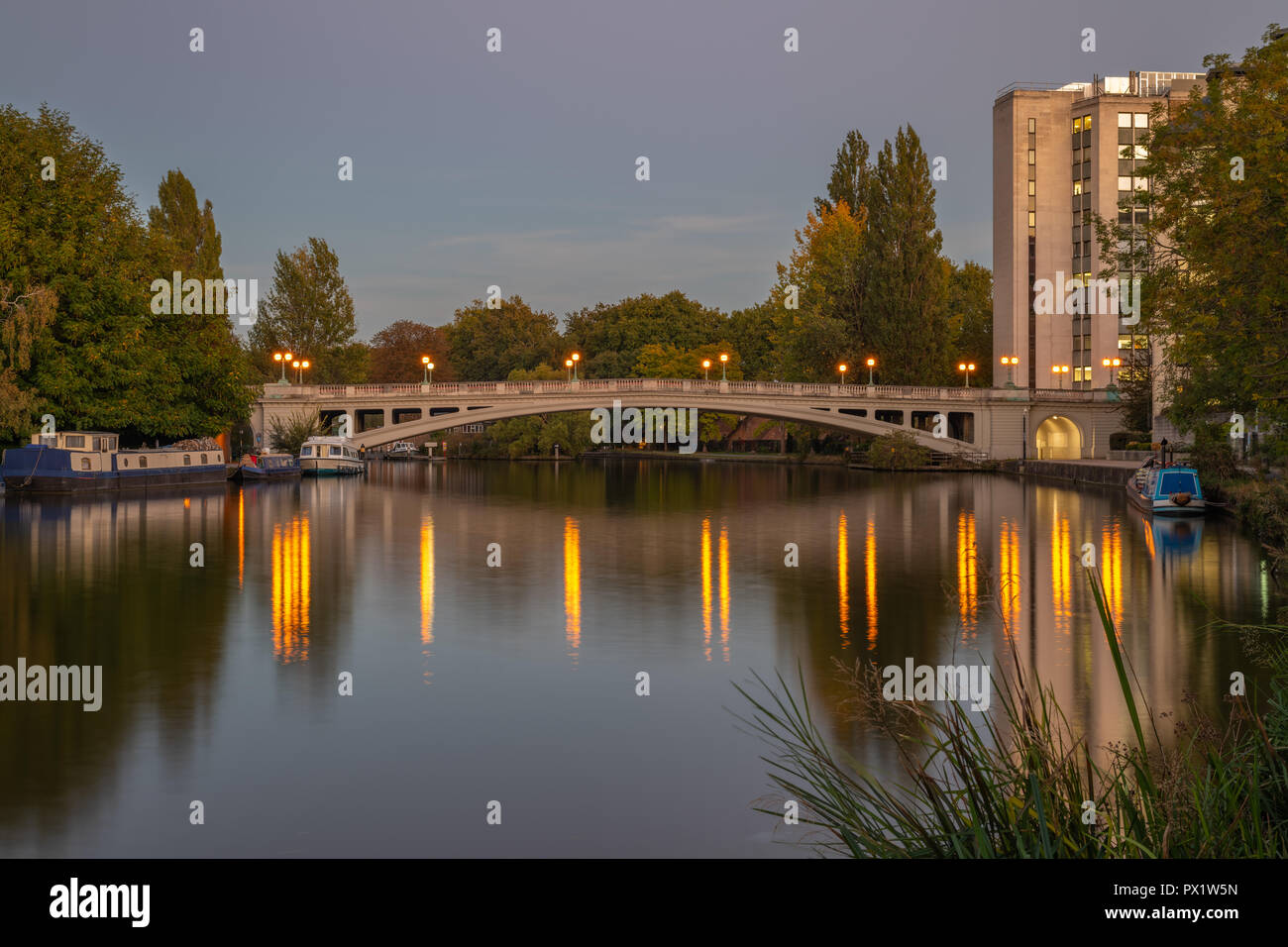 Reading Bridge over the River Thames, Reading Berkshire United Kingdom. - Stock Image
