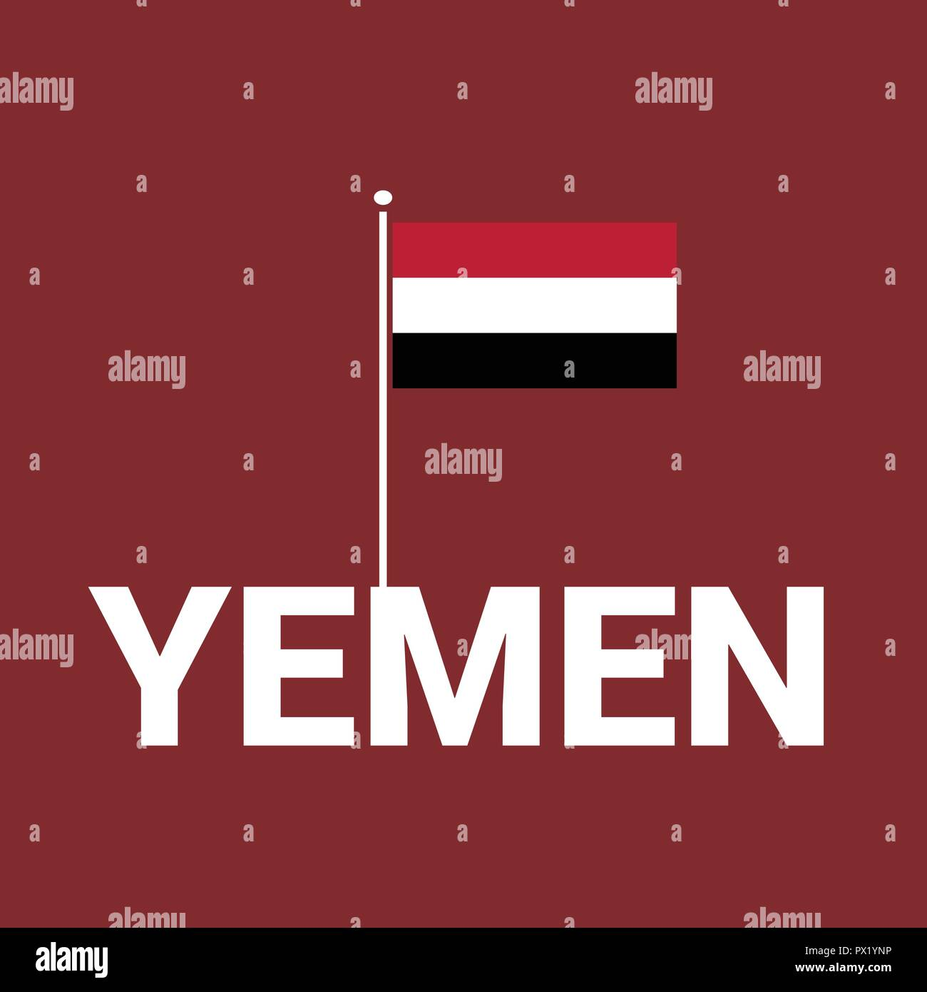 Yemen Independence day design card vector - Stock Vector