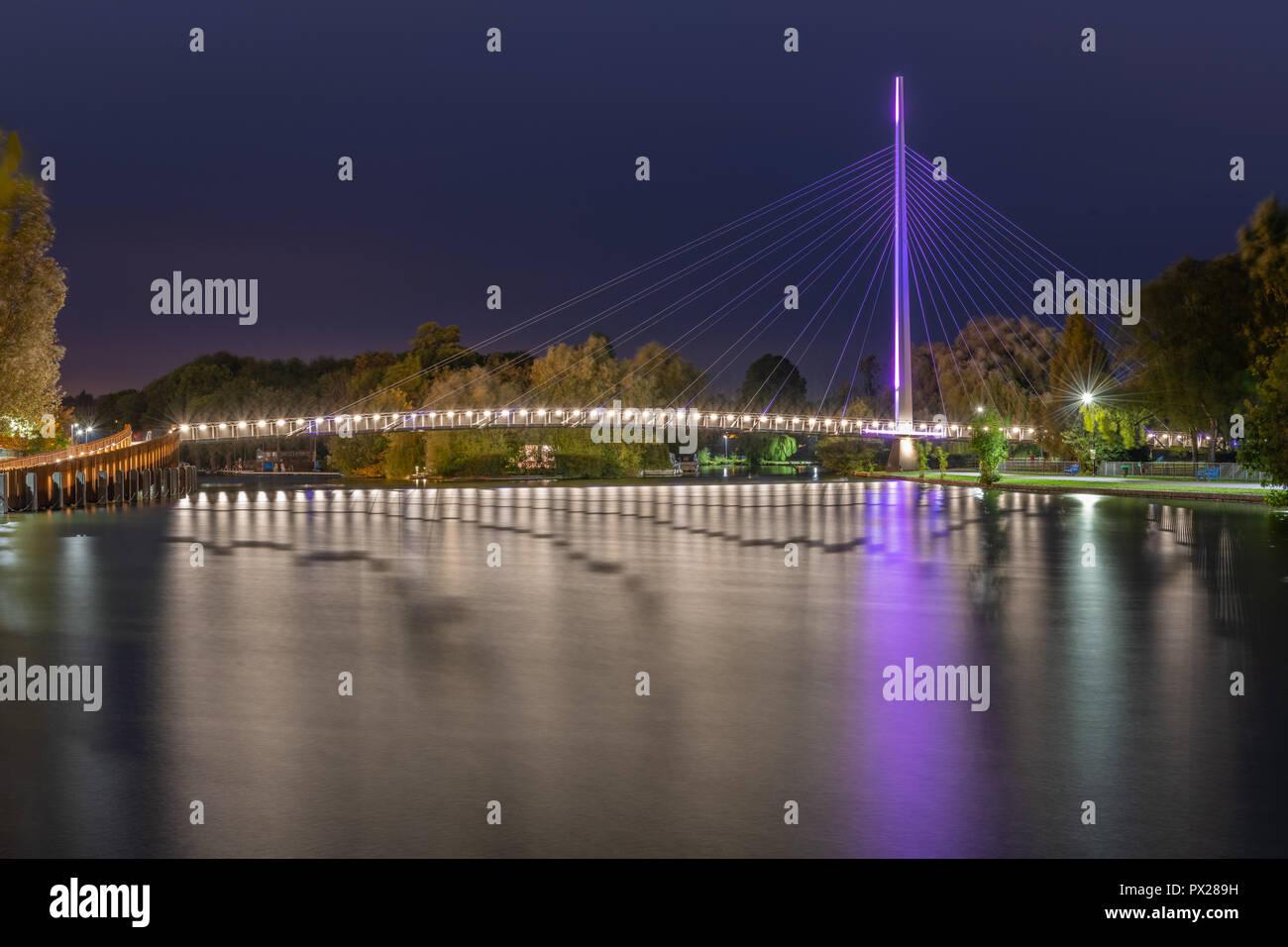 Christchurch Bridge, Reading Berkshire United Kingdom Stock Photo