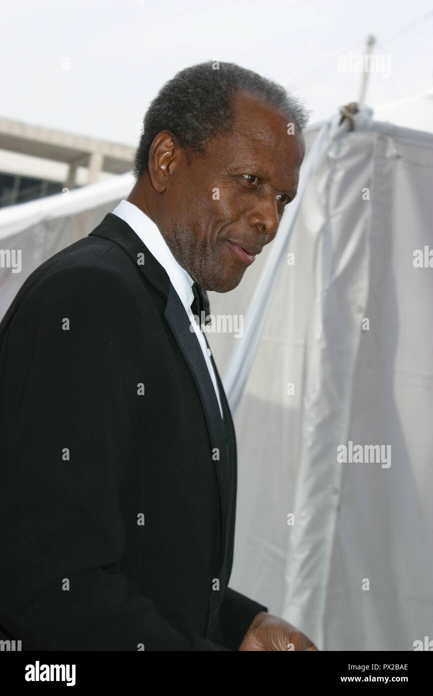 Sidney Poitier  05/13/03 Los Angeles Opera's Placido Domingo & Friends Concert & Gala @ Dorothy Chandler Pavilion, Los Angeles Photo by Kazumi Nakamoto/HNW / PictureLux  May 13, 2003   File Reference # 33686_1078HNWPLX - Stock Image
