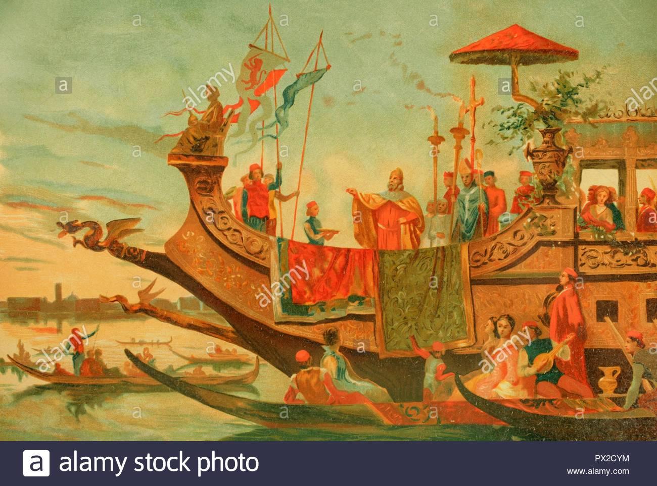 Edad Moderna Matrimonio De Venecia Con El Adriático