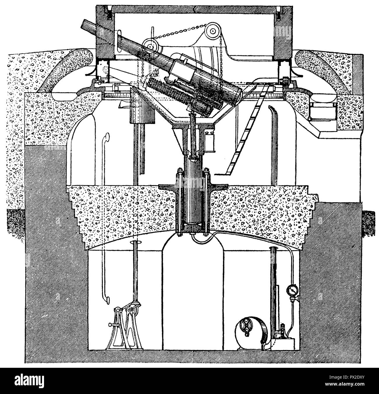 Tank Turret Black And White Stock Photos Images Alamy Merkava Schematic French Image