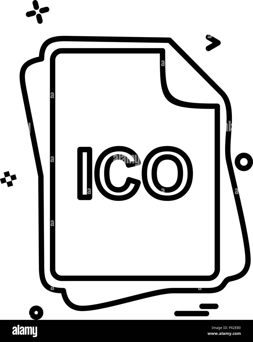 ICO file type icon design vector Stock Vector Art & Illustration