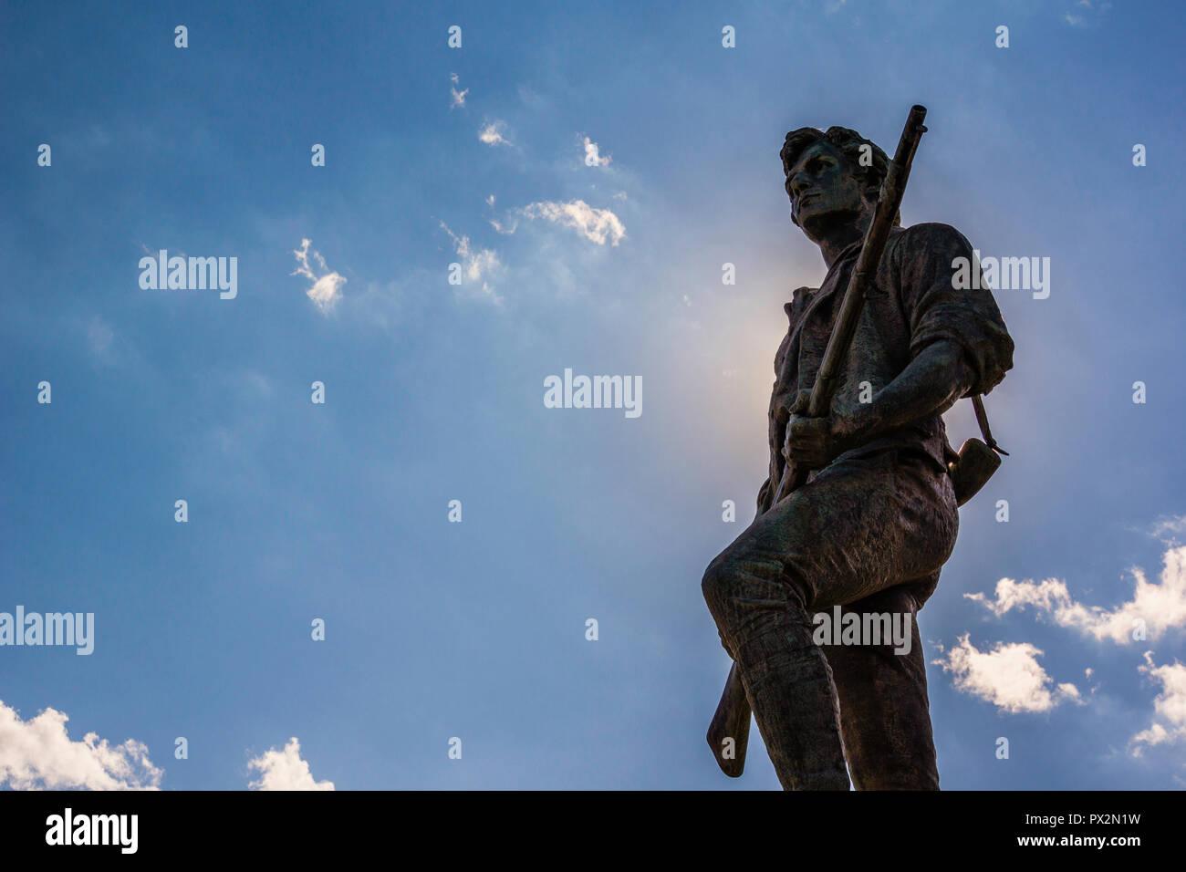 Minuteman Statue Lexington Battle Green _ Lexington, Massachusetts, USA Stock Photo