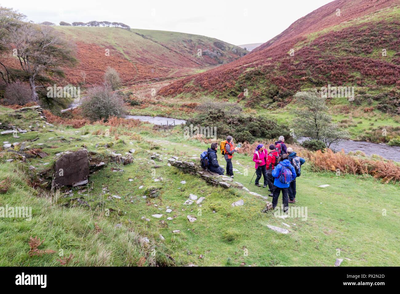 Remains of Wheal Eliza mine on the Two Moors Way, Exmoor, UK - Stock Image
