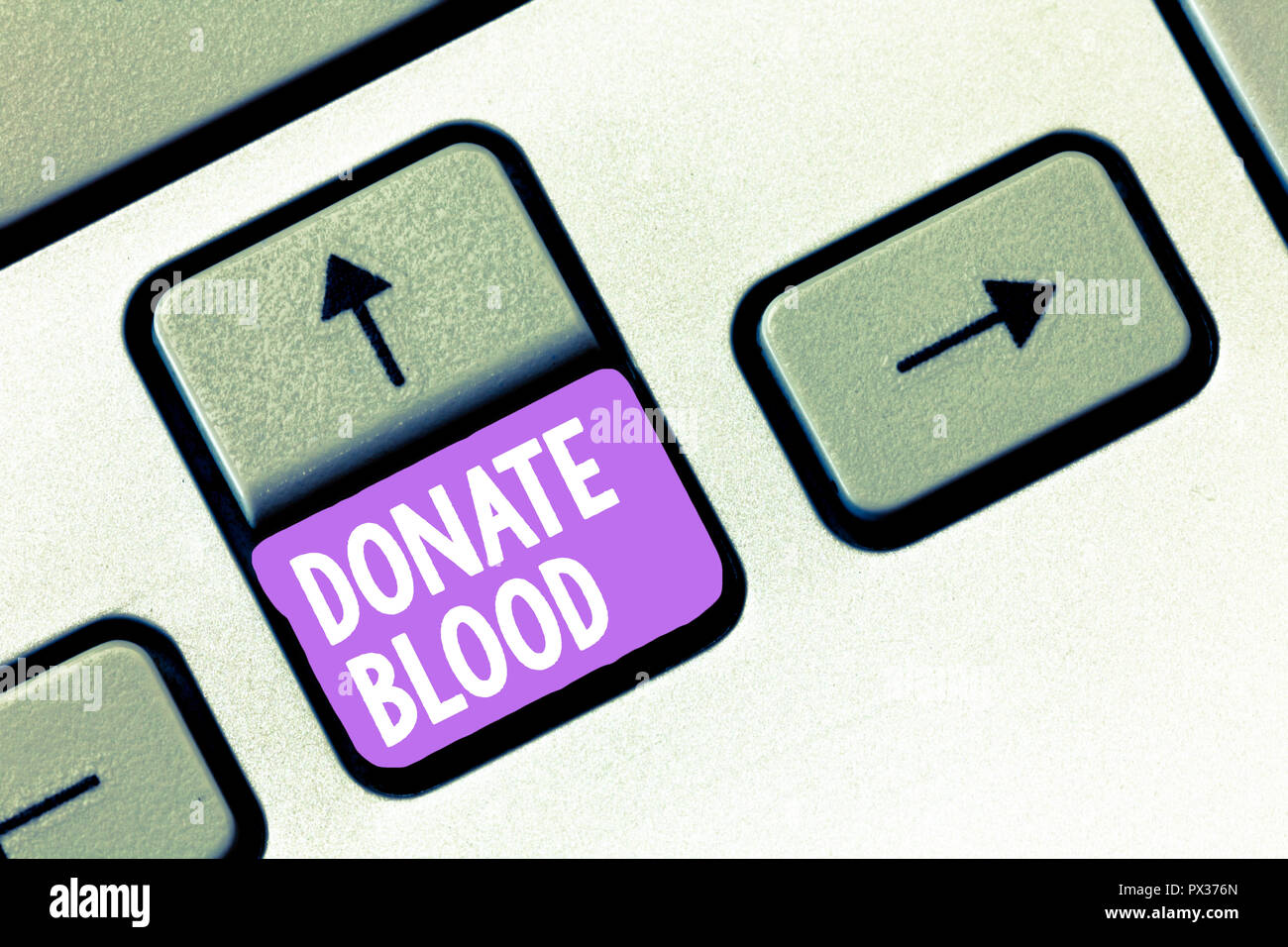 Handwriting text Donate Blood. Concept meaning Refers to the collection of blood commonly from donors. - Stock Image