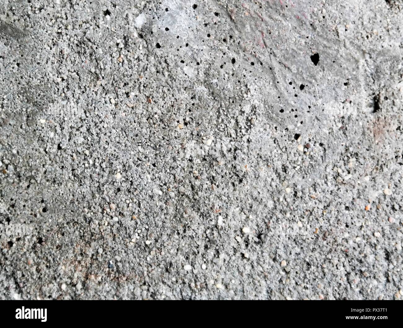 close-up of grey concrete, construction material - Stock Image