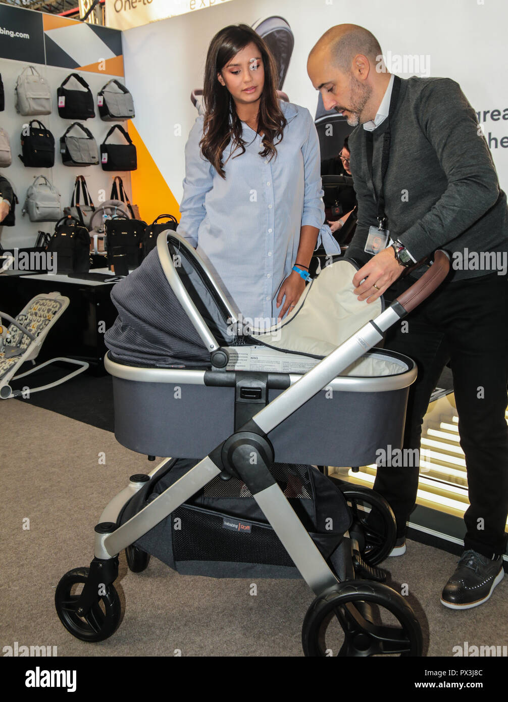 London Uk 19 October 2018 Tyla Carr Former Love Island contestant model from Surrey visiting The Baby Show in the Olympia center today ,billed as ' The UK's favourite shopping event for new and expectant parents' with the presence of the biggest name in the high street to the biggest name in celebrities parents Credit: Paul Quezada-Neiman/Alamy Live News - Stock Image