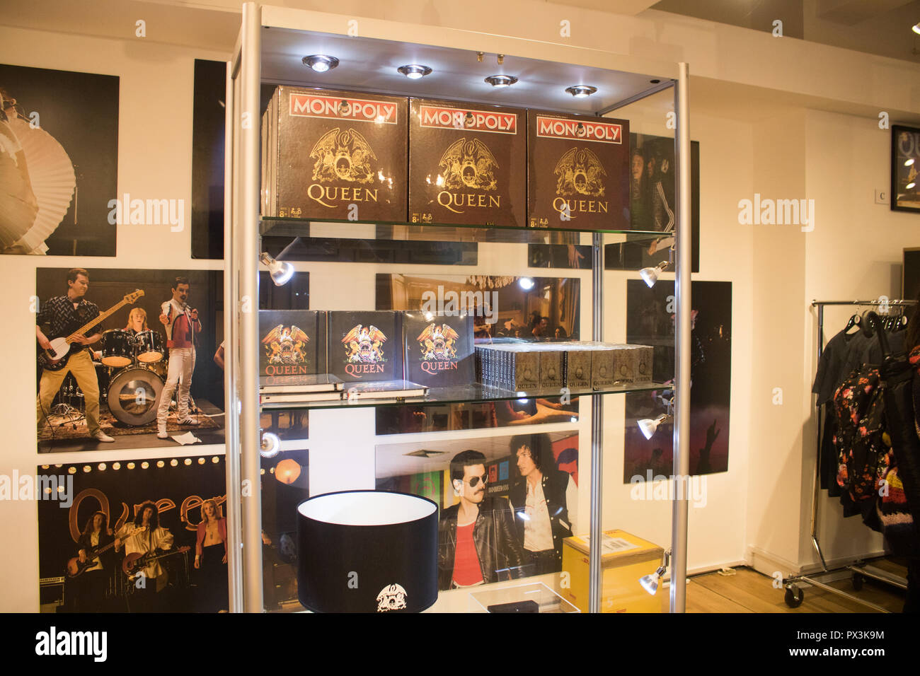 A Queen pop-up shop has opened in Carnaby Street ahead of the upcoming  release of the movie