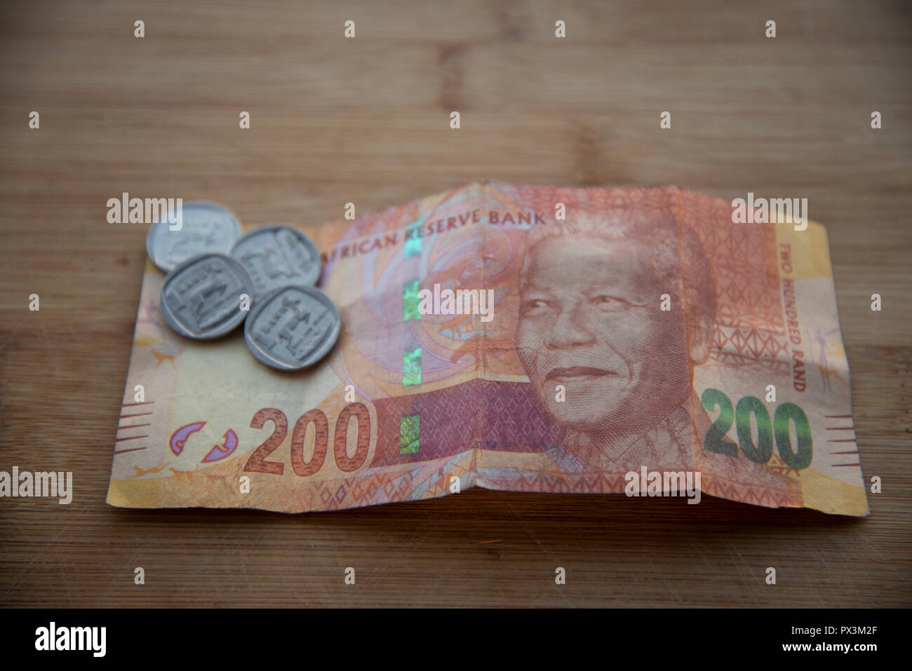 Johannesburg, South Africa, 19 October, 2018. The South African Rand re-gained some of its recent losses and headed into the weekend a little stronger. Credit: Eva-Lotta Jansson/Alamy Live News - Stock Image