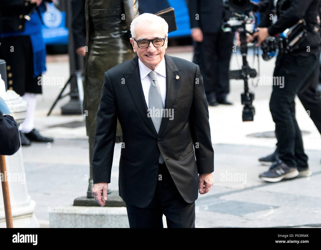 Oviedo, Spain. 19th October, 2018. American director Martin Scorsese arrives to the ceremony of Princess of Asturias Awards at Campoamor Theatre on October 19, 2018 in Oviedo, Spain. Scorsese obtain the Princess of Asturias Award for Arts 2018 for for his career as a director, with films like 'Taxi Driver', 'Goodfellas', 'Gangs of New York', 'The Departed' and 'The Wolf of Wall Street'. ©David Gato/Alamy Live News - Stock Image