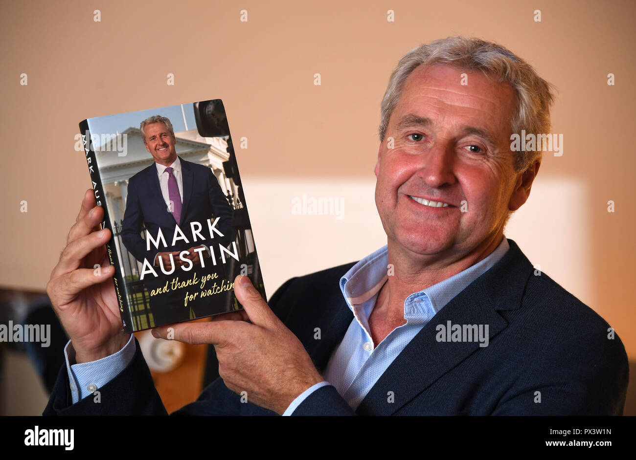 Mark Austin at Dorchester Literary Festival, Mark Austin, English journalist and television presenter, Credit: Finnbarr Webster/Alamy Live News - Stock Image