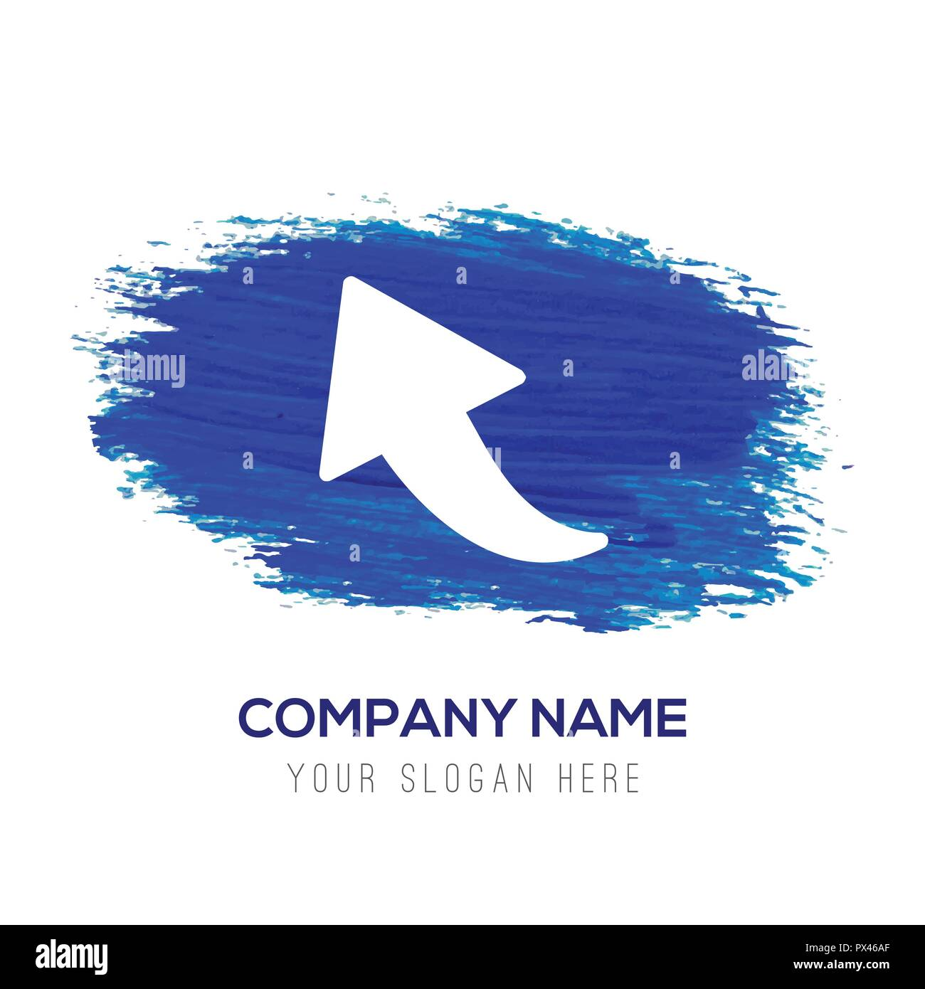 Upper Arrow Icon Blue Watercolor Background Stock Vector Image Art Alamy
