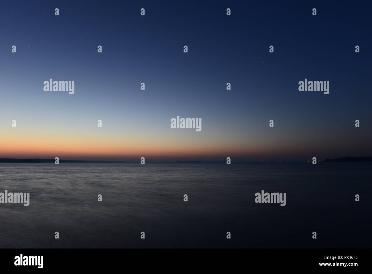 Twilight Glow Color Palette Of Sunset Lines In The Dark Blue Night