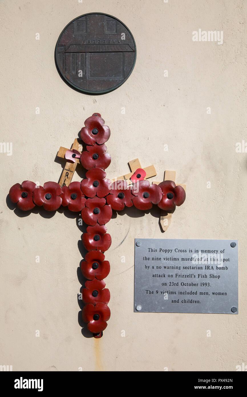 Belfast, northern Ireland. Loyalist memorial to IRA victims on Shankill road.  Ulster, U.K. - Stock Image