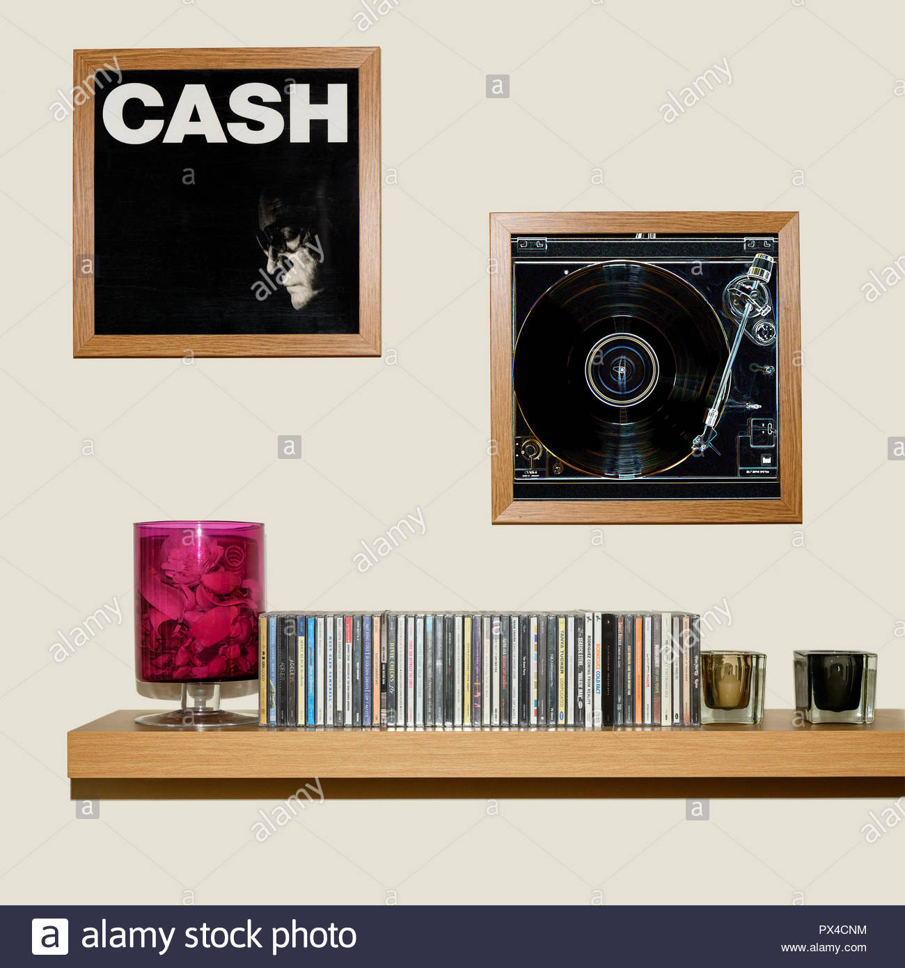 CD Collection and framed Johnny Cash American IV: The Man Comes ...