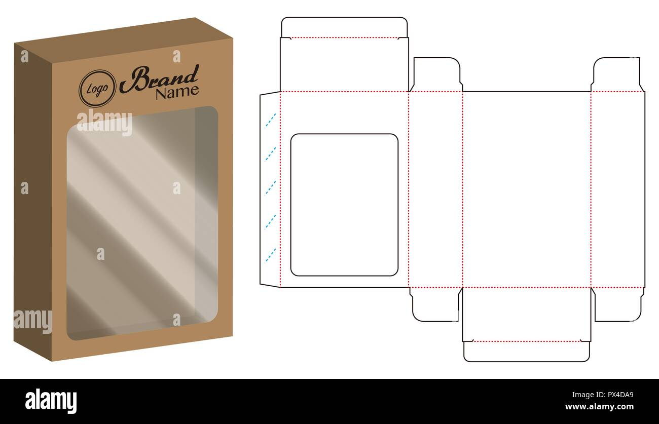 Dvd Paper Packaging Box Die Cut Line Template Stock Vector Art