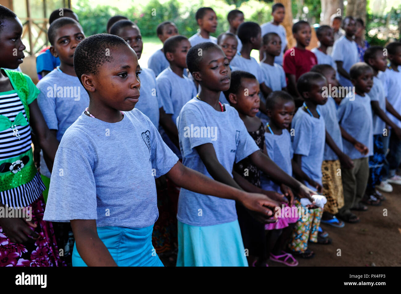 TANZANIA Musoma, JIPE MOYO a shelter of the catholic church for girls which escaped from their village to prevent FGM female genital mutilation and child marriage - Stock Image