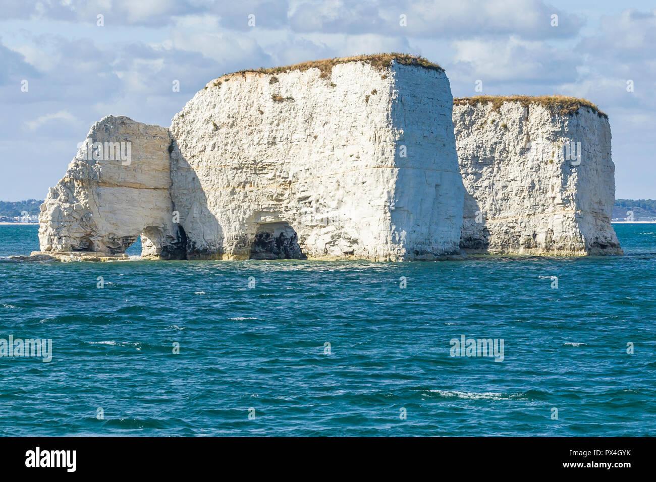 Old Harry chalk cliffs on Jurassic coast, Dorset. Stock Photo