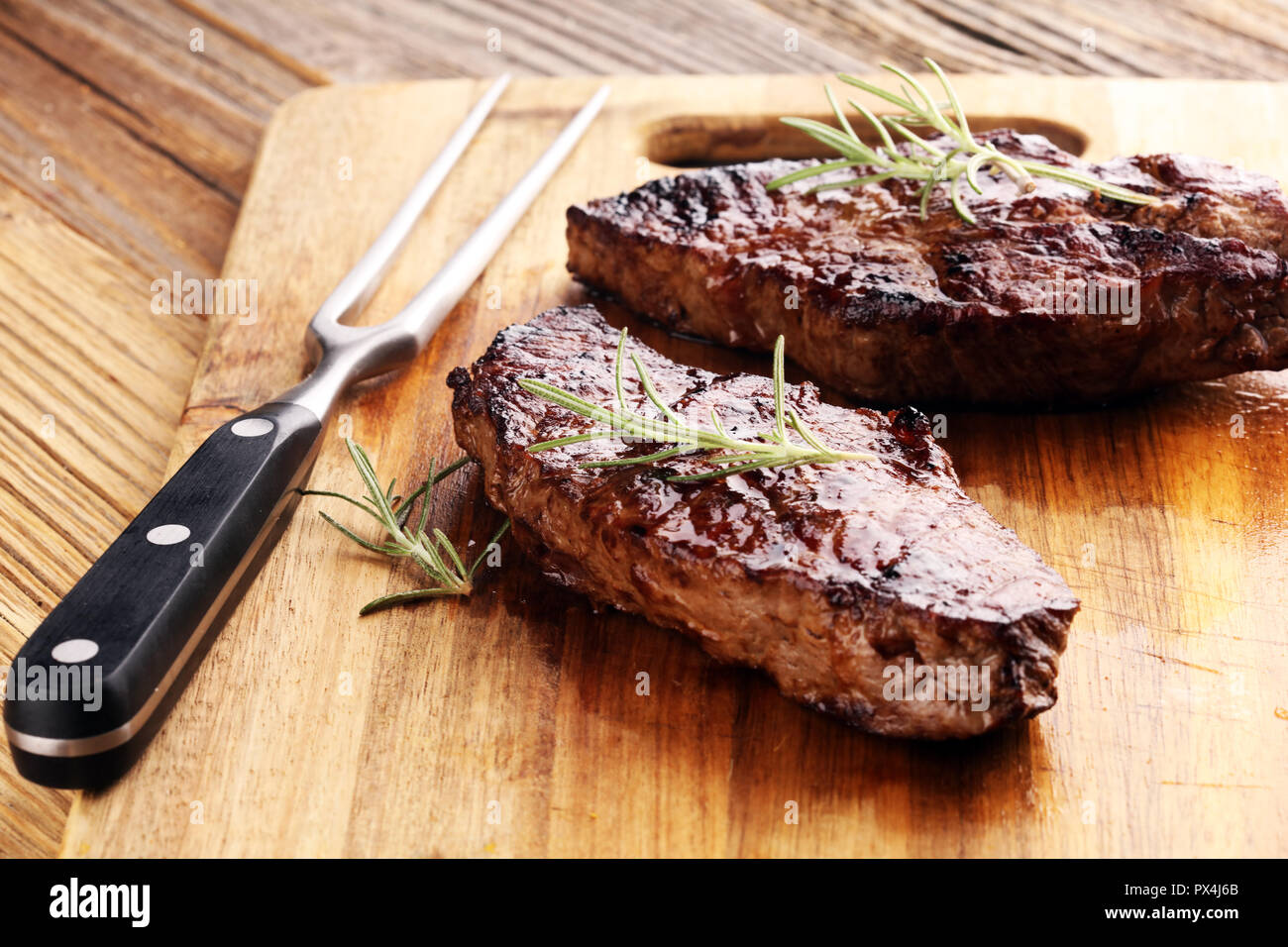 Barbecue Rib Eye Steak or rump steak - Dry Aged Wagyu