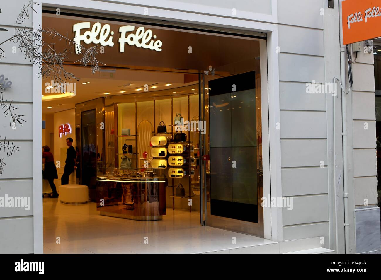ac26b2fcdc Folli Follie shop in Ermou street in the center of Athens. Greek-listed  jewellery chain  1bn of fake sales. The three month investigation came after