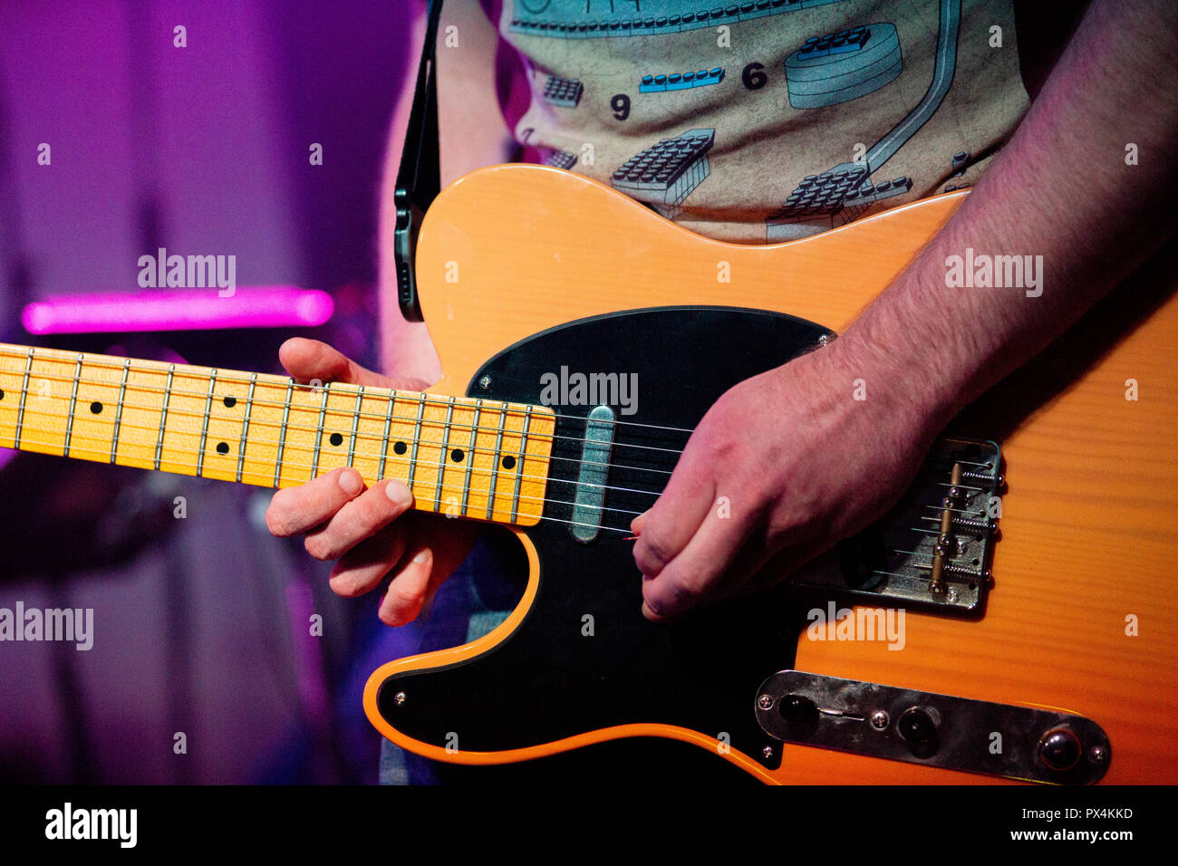 Left Handed Telecaster - Rev Magnetic - 22nd August 2018 - Leith Theatre - Stock Image