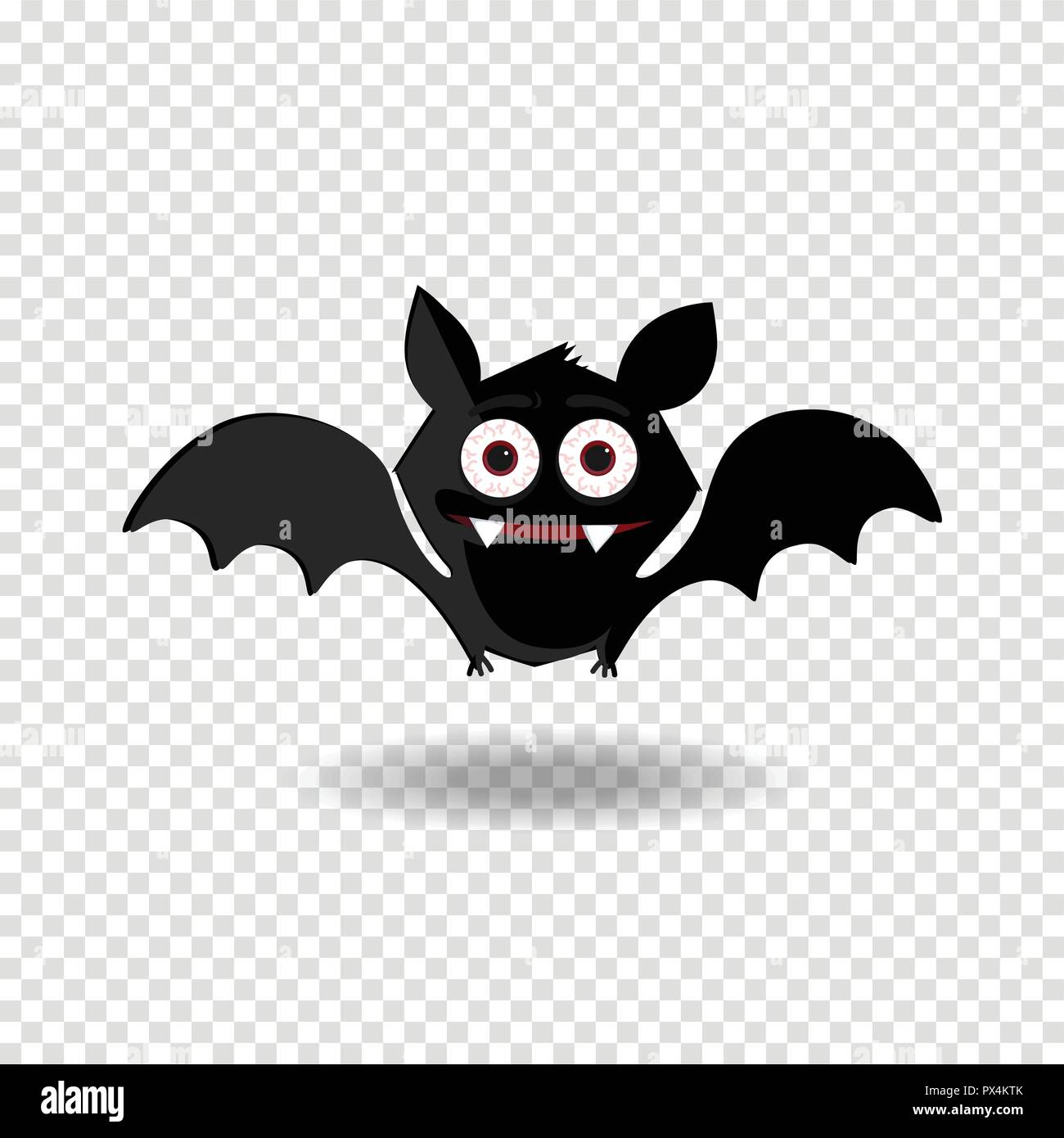 A Picture Of A Cartoon Bat cute flying cartoon bat with fangs and red eyes isolated on