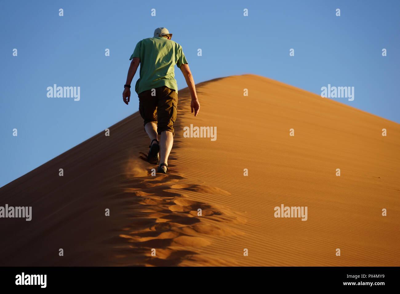Düne 45, Namib-Dünenmeer, Namibia, Afrika - Stock Image