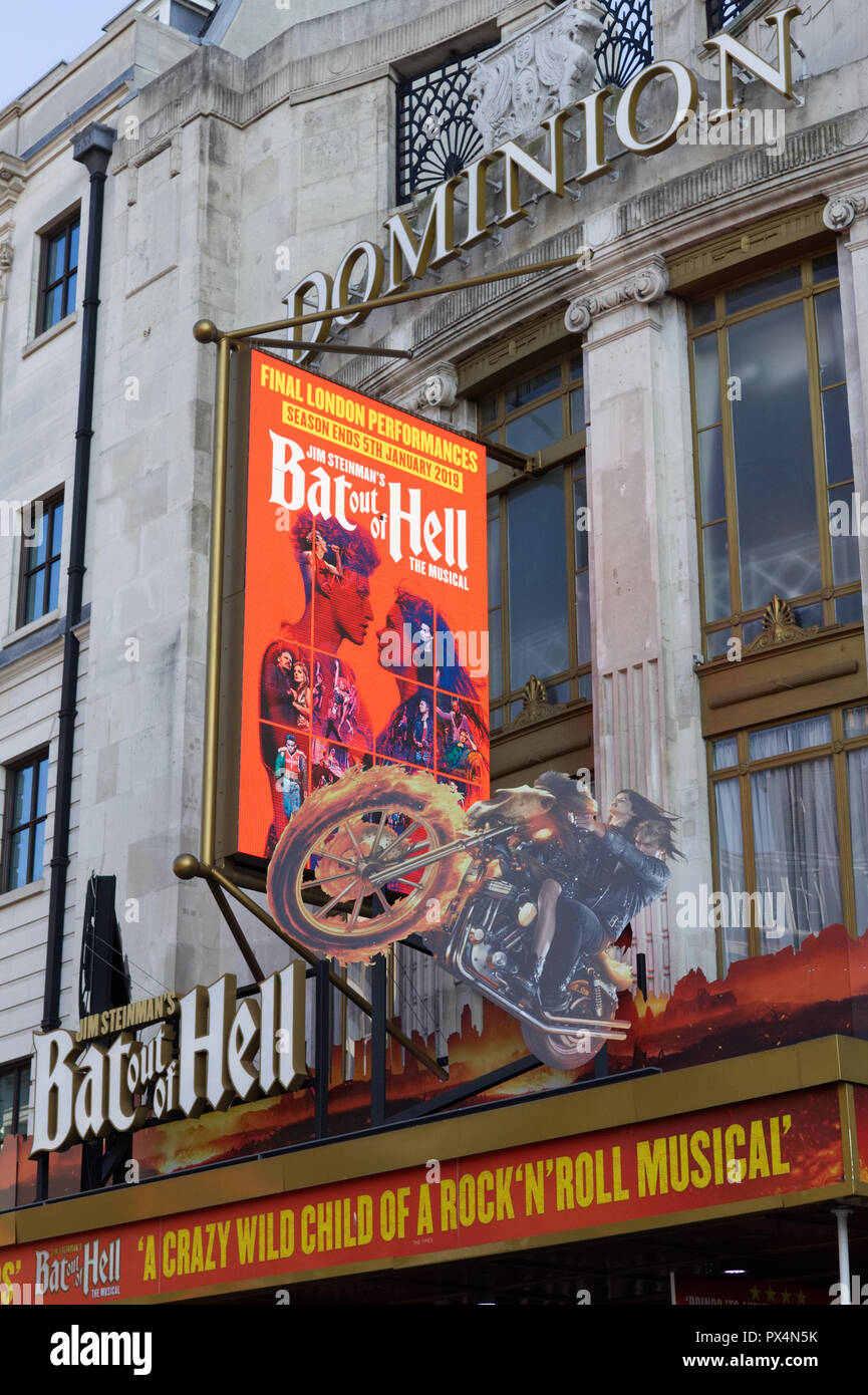 Bat out of Hell musical at the Dominion Theatre London - Stock Image