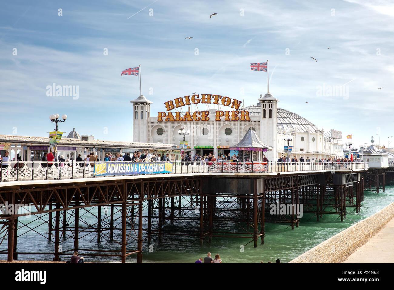 Brighton Palace Pier, Brighton, Uk - Stock Image