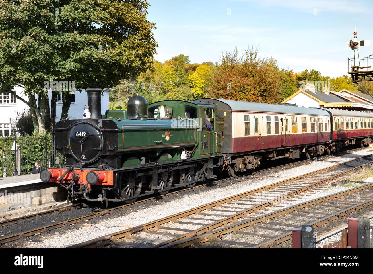 South Devon Railway Line (Heritage Railway). - Stock Image