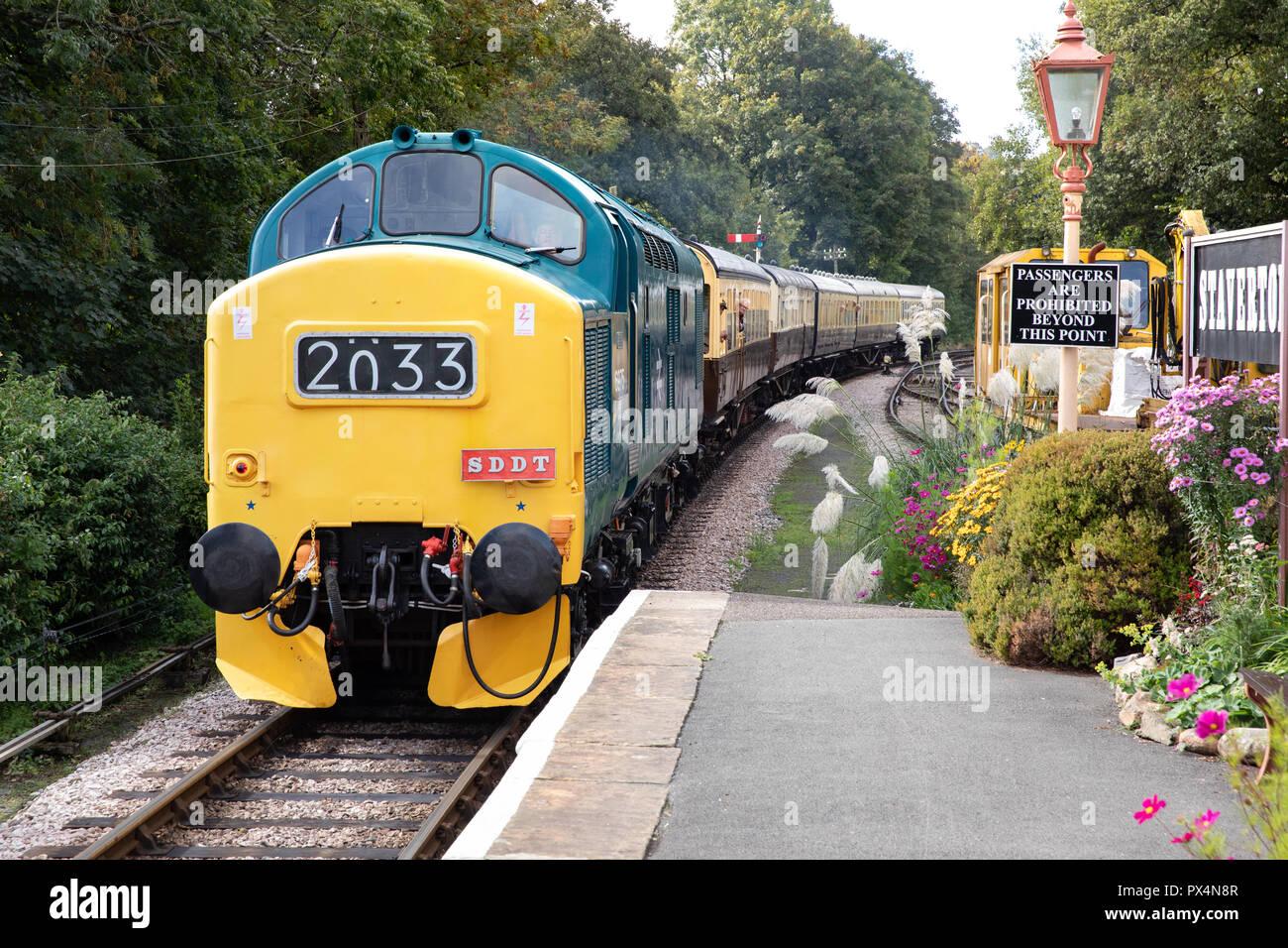 Staverton Station. South Devon Railway Line (Heritage Railway). - Stock Image