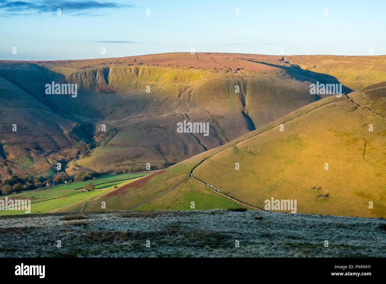 Brown Knoll near Kinder Scout, Peak District National Park, Derbyshire,UK - Stock Image