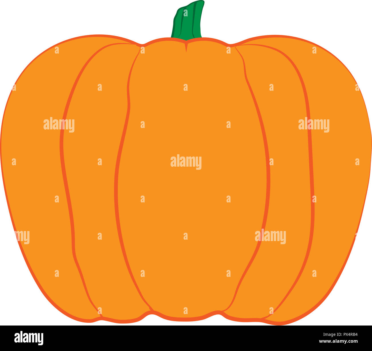 ACK-O-LANTERN Pumpkin design illustration with different stroke effects. - Stock Image