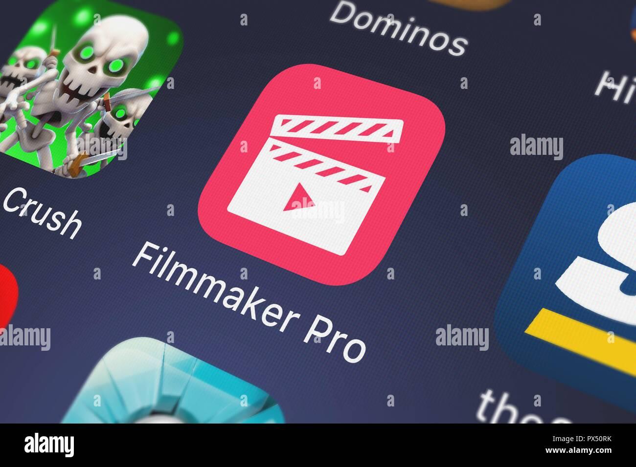 London United Kingdom October 19 2018 The Filmmaker Pro Mobile