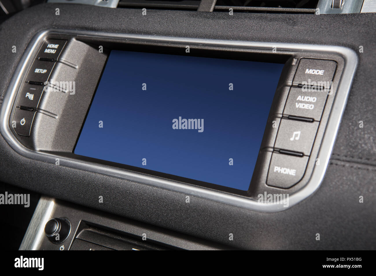Display on the car's instrument panel. Close-up - Stock Image