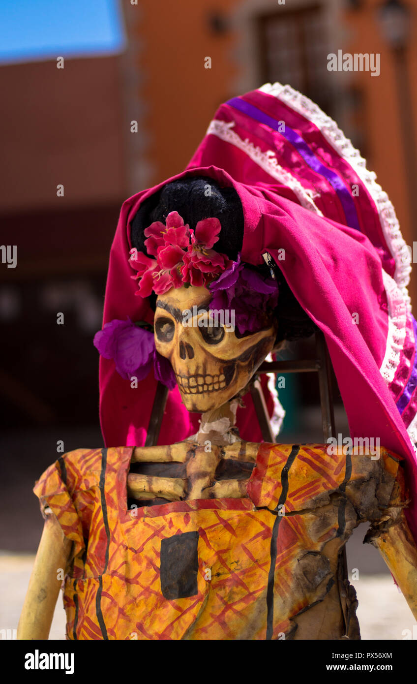 Frida's Catrina symbolic representation of dead. Mexican tradition - Stock Image