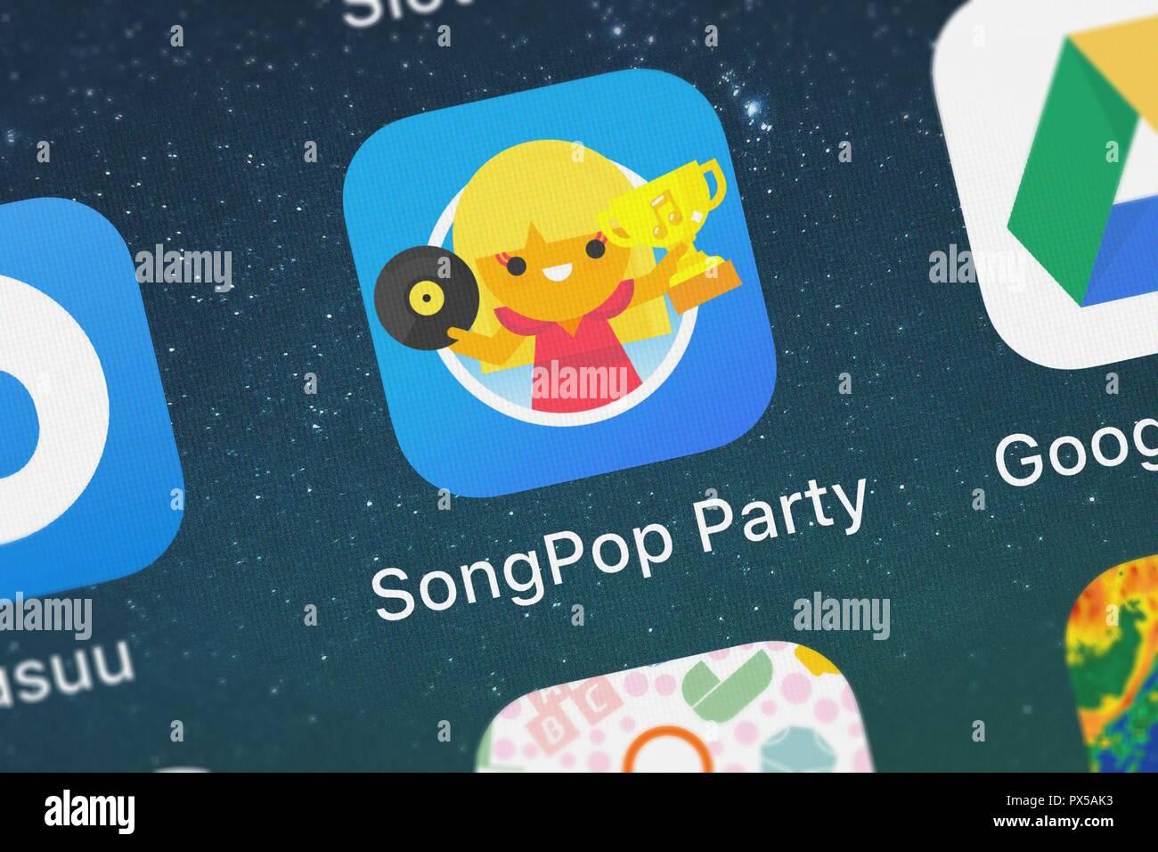 London United Kingdom October 19 2018 Screenshot Of The Songpop