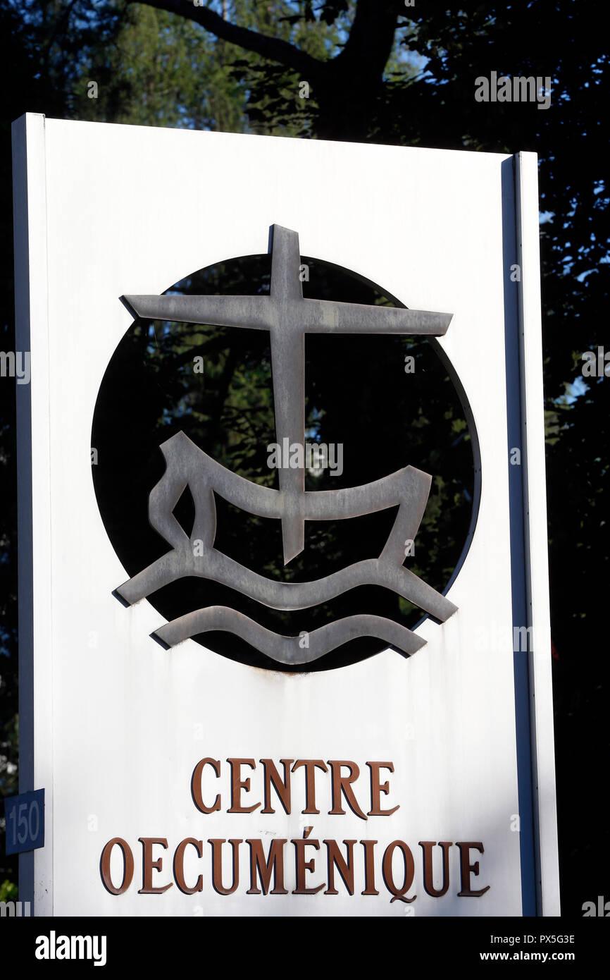 World Council of Churches ( WCC ). Ecumenical center.  Geneva. Switzerland. - Stock Image
