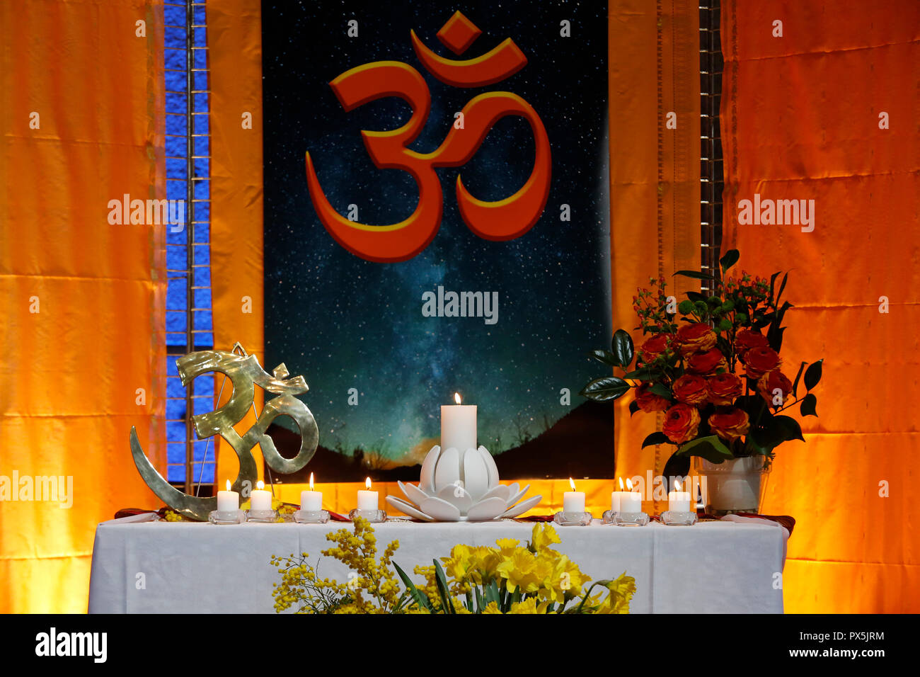 Launch of the French Vedic Federation at UNESCO, Paris, France. - Stock Image