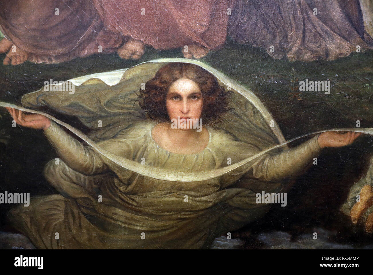 MusŽe des Beaux-Arts, Lyon, France. Fine Art museum, Lyon, France.  Louis Janmot, The Poem of the Soul, between 1835 and 1855. Divine Generation. Deta - Stock Image
