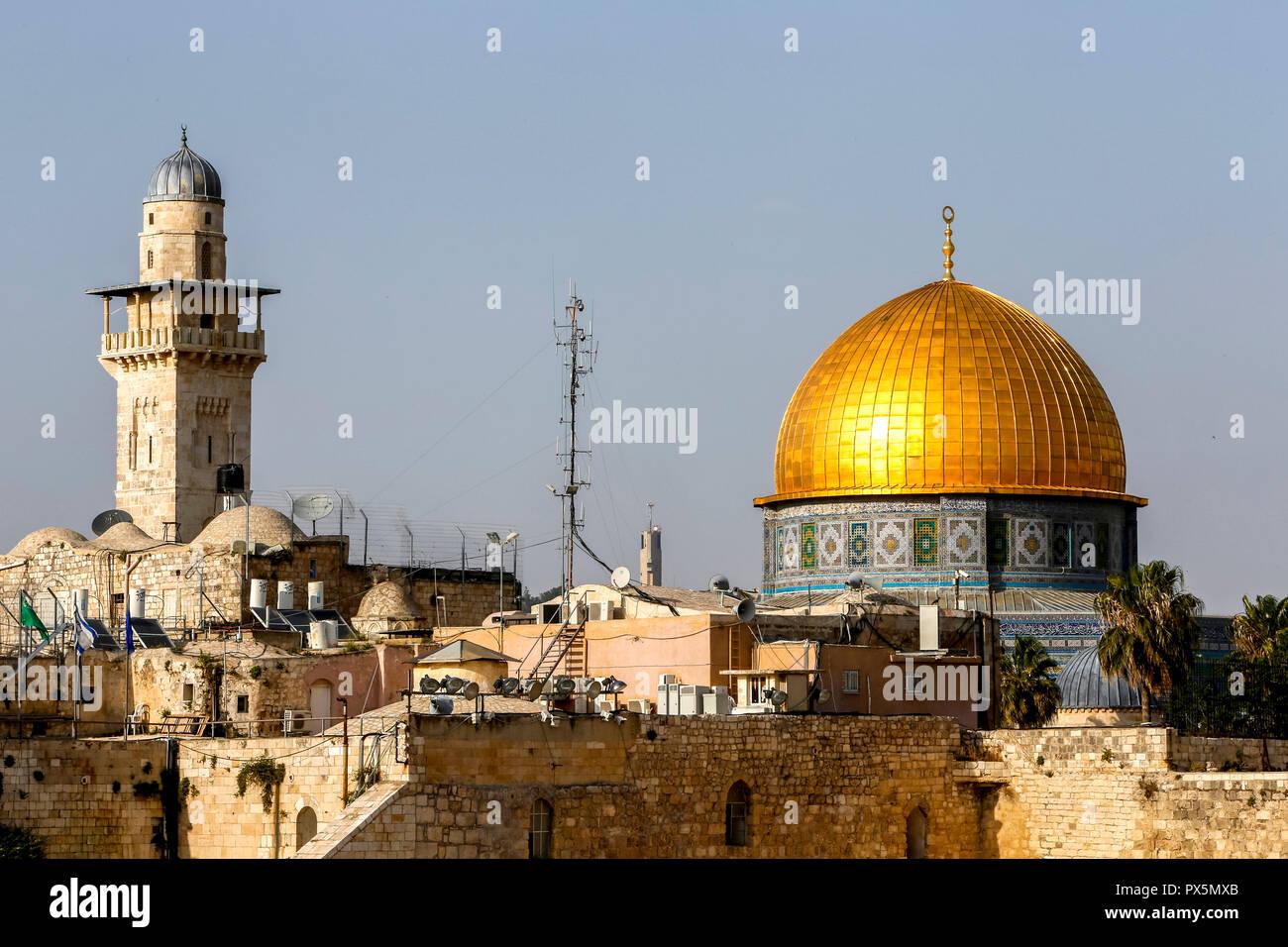 Dome of the Rock, Jerusalem. Israel. - Stock Image