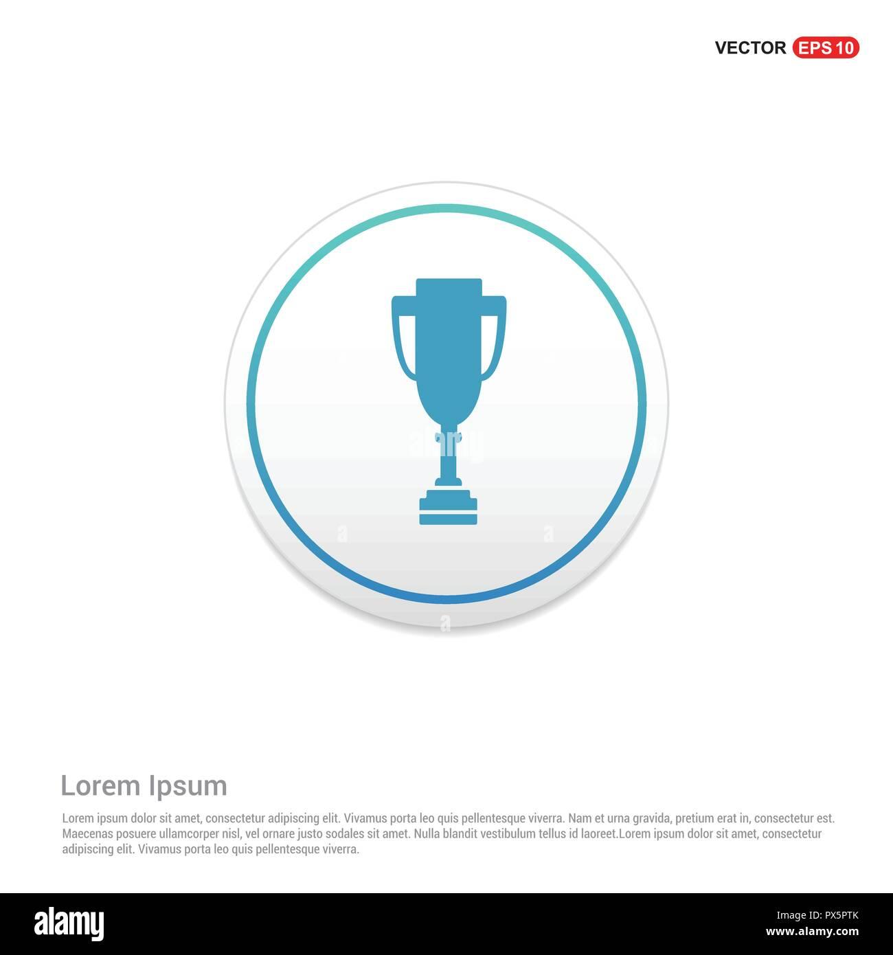 trophy icon hexa white background icon template free vector icon
